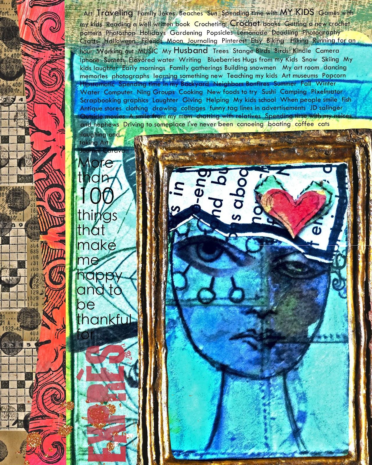 Kristi's Twist New Digital Journal Page For Art Journal