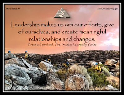 Leadership makes us aim our efforts, give of ourselves, and create meaningful relationships and changes.    Brendon Burchard, The Student Leadership Guide  [Photo credit: Tallac IHC]