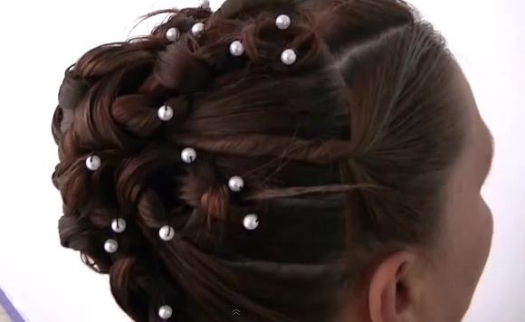 peinado en forma de nudos novia