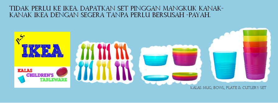 P.S. Ikea Children's Tableware: 2 Set Pinggan Mangkuk