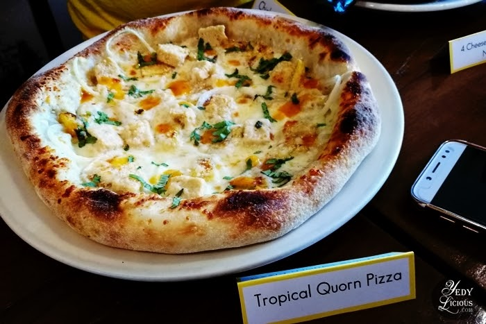Tropicale Quorn Regular Hand-Tossed Pizza, CPK PH New Menu, California Pizz Kitchen Philippines New Menu on its 20th Anniversary, CPK PH Menu, Blog Review, Branches, Contact Info CPK PH Delivery, Website, Facebook, Instagram, Twitter, Best Pizza in Manila, YedyLicious Manila Food Blog