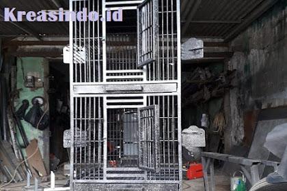 Kandang Burung Besi pesanan Bu Linda di Surabaya Jawa Timur