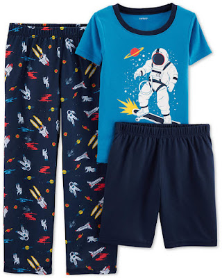 Carter Little & Big Boys 3-Pc. Space Pajamas