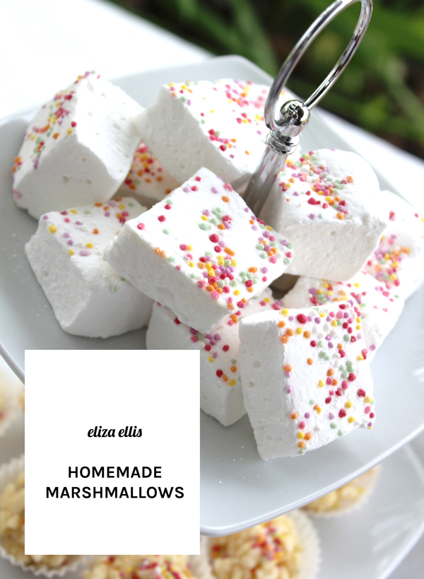 Homemade Marshmallows: Last Minute Sprinkles Party Part Five by Eliza Ellis