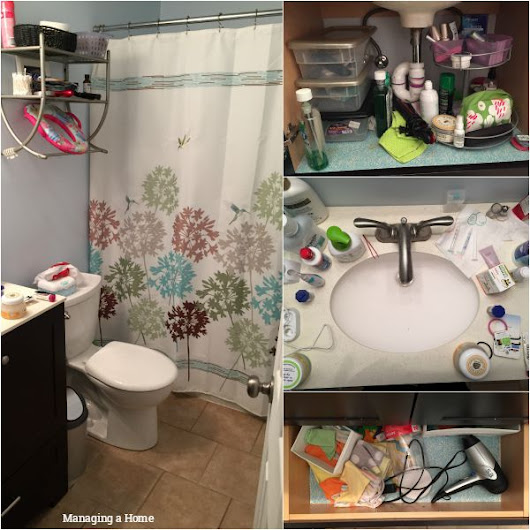 Master Bathroom Organization - Reveal