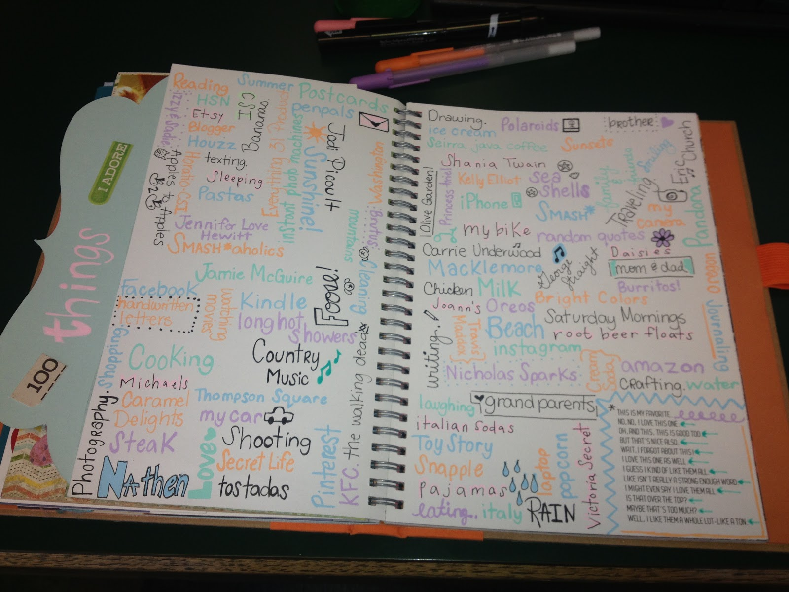 Bold And Beautiful 100 Things I Love Smashbook