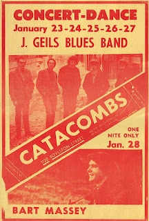 The J.Geils Blues Band played at the Catacombs in January 1968 for 5 night between 23rd and 27th