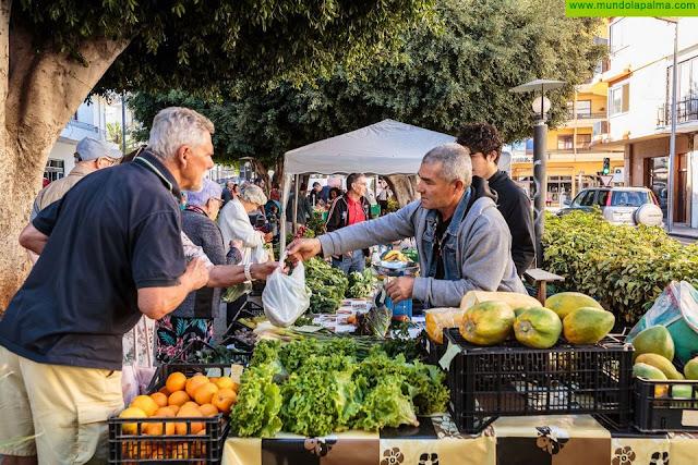 Los Llanos de Aridane reabre el Mercadillo del Agricultor en la Plaza de España a partir del próximo domingo
