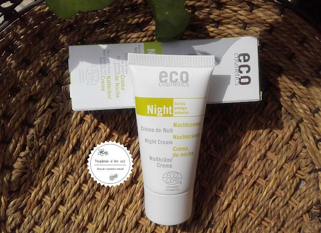 crema facial de noche de eco cosmetics