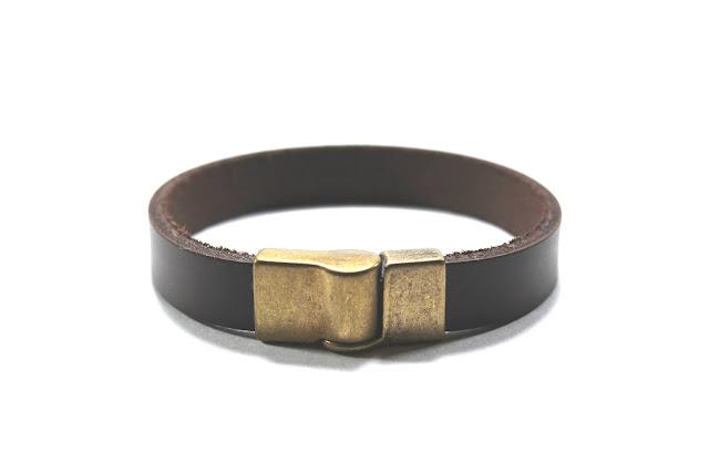 pulseira masculina de couro bracelete