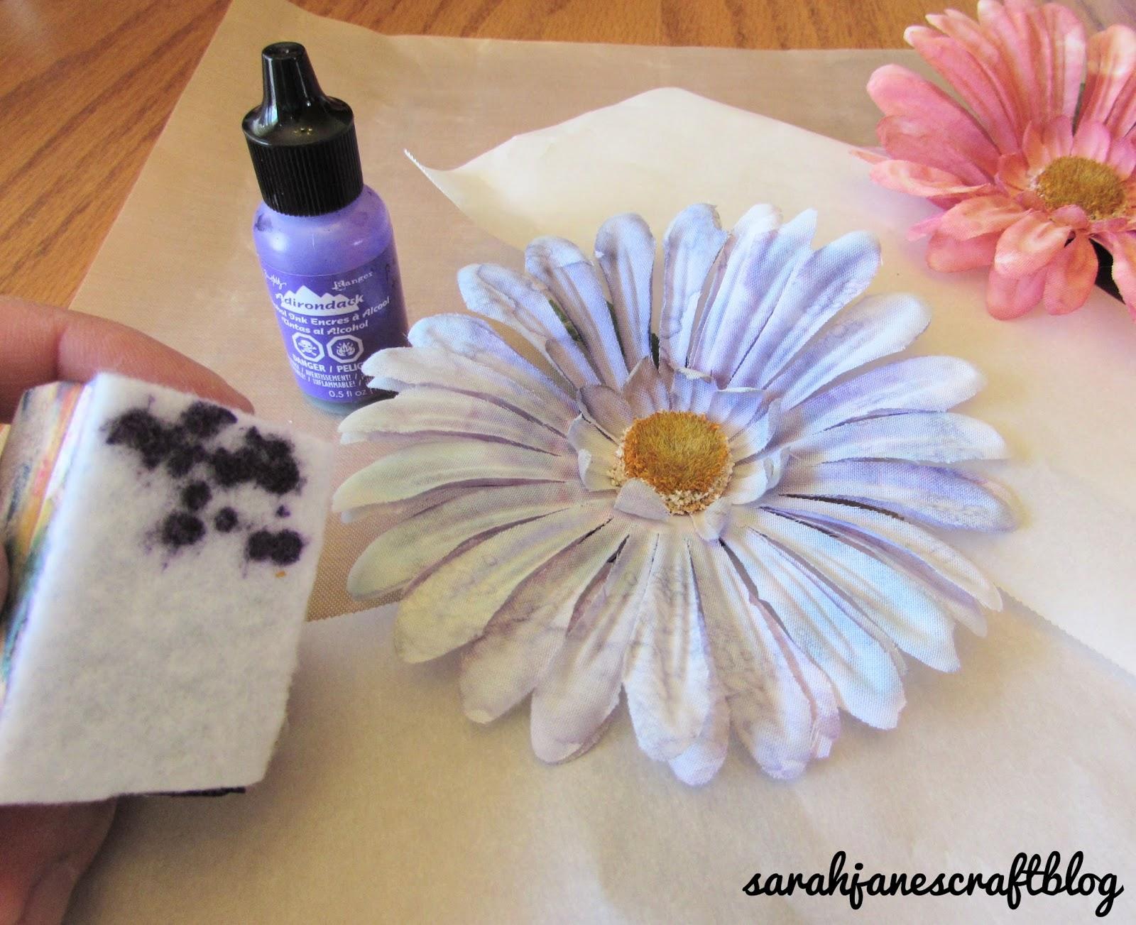 Sarah Janes Craft Blog Alcohol Ink Dyed Silk Flowers Refresh