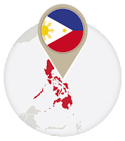 Philippines flag and map