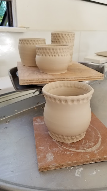 Handmade pottery by Lily L, in progress.