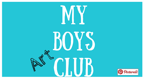 My Boys Art Club - February