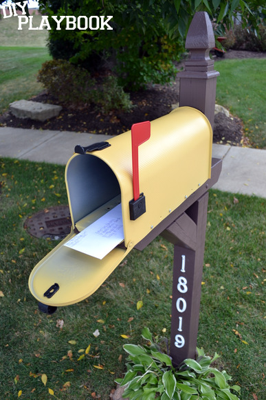 Yellow Mailbox Makeover