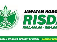Jawatan Kosong Terbaru RISDA - Gaji RM1,400.00 - RM4,866.00