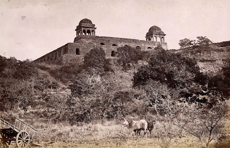 Rupmati Mahal at Mandu, Madhya Pradesh - Circa 1882