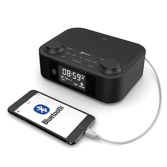 Majority Fulbourn DAB+ DAB Digital FM Radio Alarm Clock