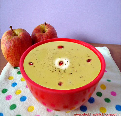 Apple Soup With Yogurt