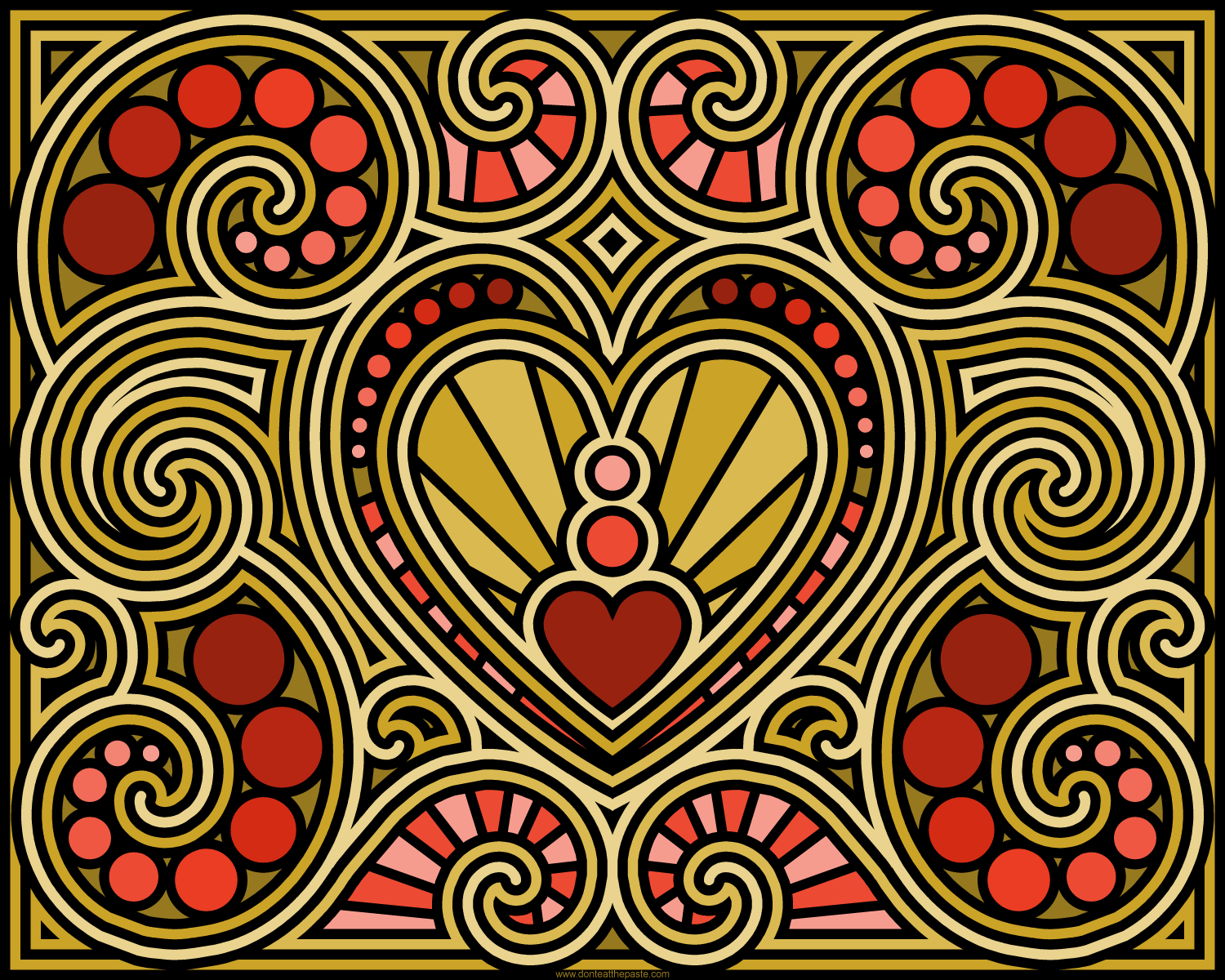 Swirly Heart Coloring Page Blank Available For Free