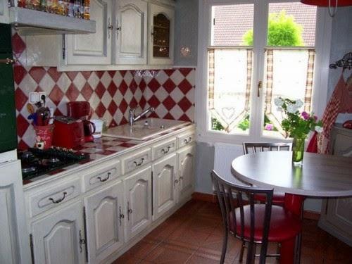 Cocinas color rojo y blanco - Colores en Casa