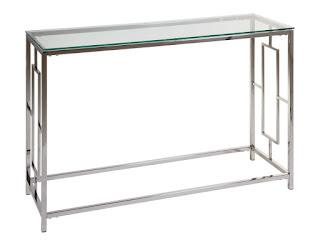 mueble recibidor acero cristal