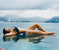 Mandira Bedi Celetes New Year 2018 in Bikini pool side  Exclusive Gallery 006.jpg
