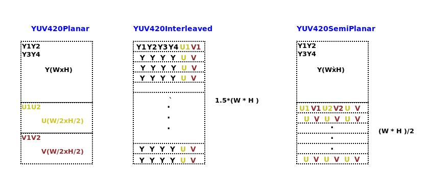 Varma IVS: Video Raw Color Formats