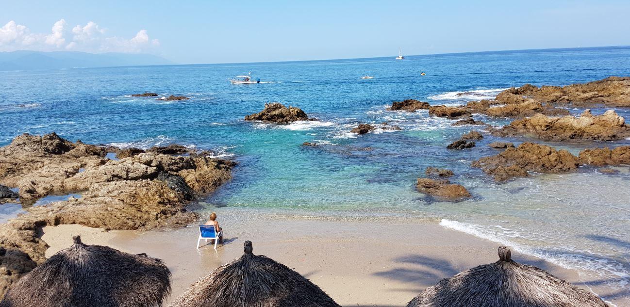 Vista de la playa de Concha Chinas