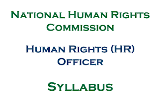 NHRC Syllabus: HR (Human Rights) Officer of National Human Rights Commission Nepal
