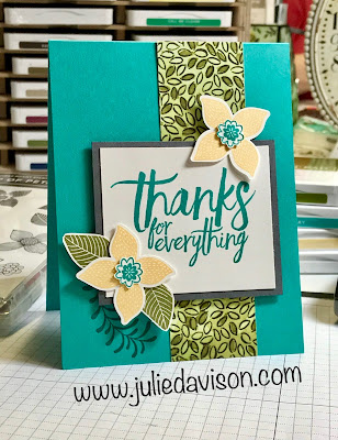 Stampin' Up! Pop of Petals Card ~ All Things Thanks ~ www.juliedavison.com