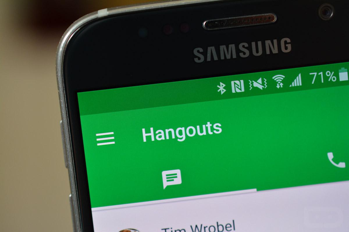 تحميل برنامج الدردشة للأندرويد هانج آوتس Google Hangouts مجانا