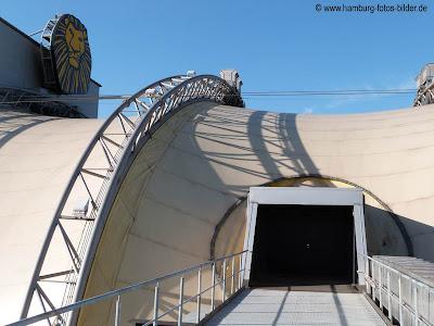 Auf dem Dach vom König der Löwen in Hamburg