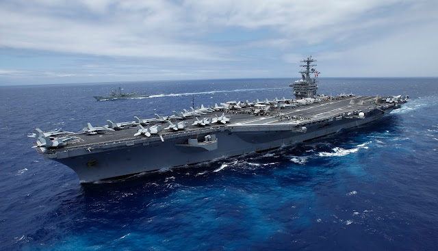 USS Nimitz Supercarrier of United States Navy