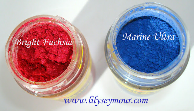 Mac Marine Ultra and Bright Fuchsia Pigments