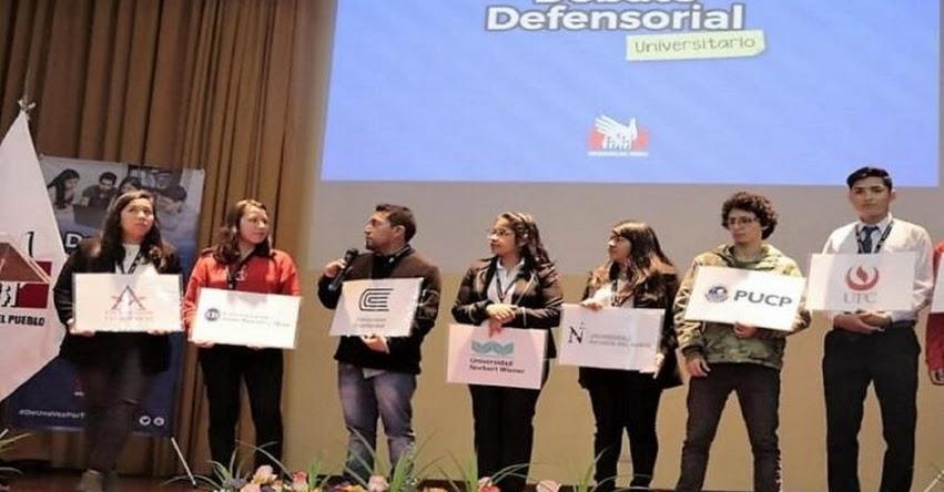 Abren inscripciones para nuevo Debate Defensorial Universitario