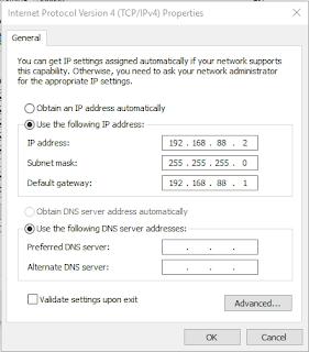 Pengaturan IP Address pada Laptop