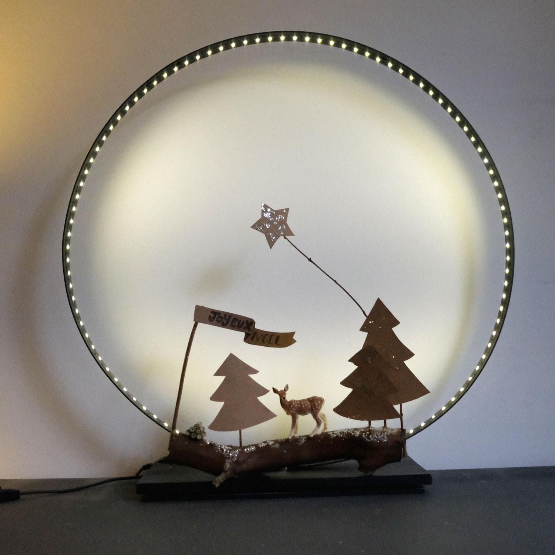 Decoration Biche Buche Noel