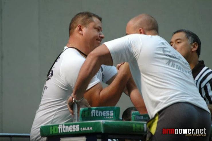 Giorgos Charalampopoulos - armwrestling at 34th World Armwrestling Championships 2012 – São Vicente, São Paulo, Brazil