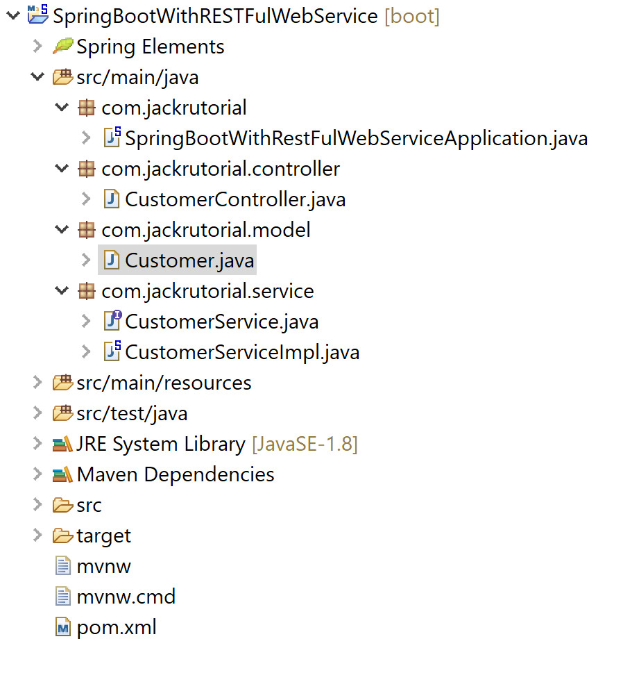 Spring Boot RESTFul Web Services CRUD Example - Spring Boot