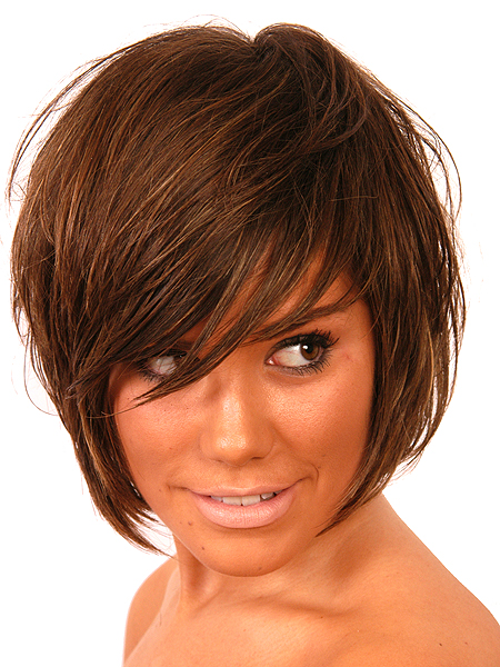 pictures of haircuts with bangs and layers medium hairstyles hairstyle 6304 | Trendy Medium Hairstyles with Bangs 03