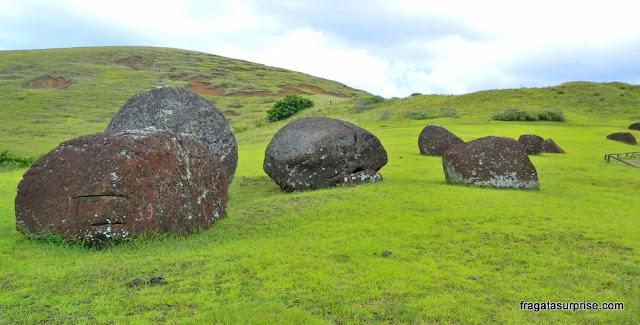 Pukhao, o chapeuzinho das estátuas da Ilha de Páscoa