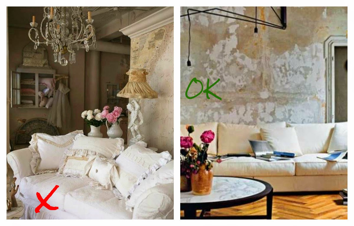 Salon estilo shabby chic