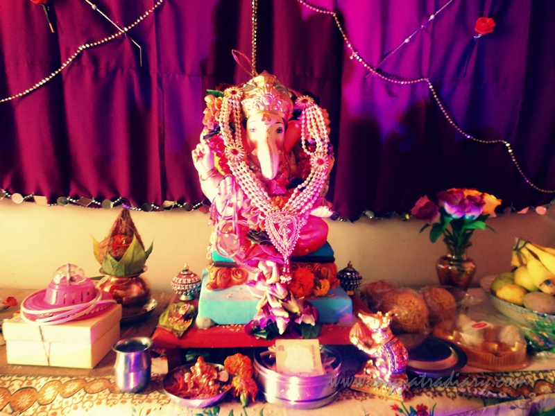 A Sweet Home Ganesha in my society