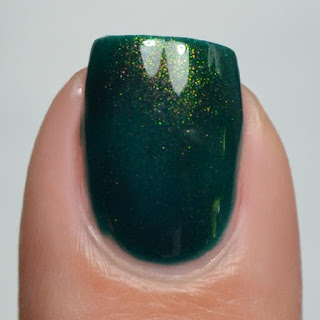green polish with color shifting shimmer
