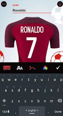 كتابة اسمك على تيشرت فريقك المفضل