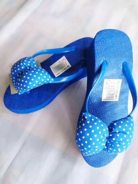 Sandal Spon Hak Orin biru