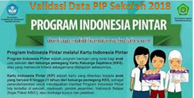 Cara Validasi Data Penerima PIP Sekolah (Program Indonesia Pintar) Tahun 2018