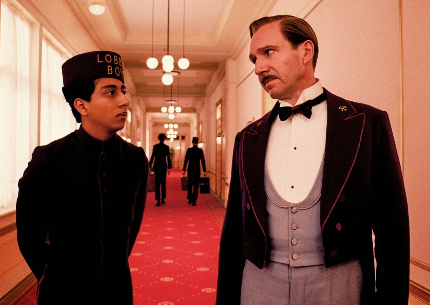 Ralph Fiennes and Tony Revolori in The Grand Budapest Hotel