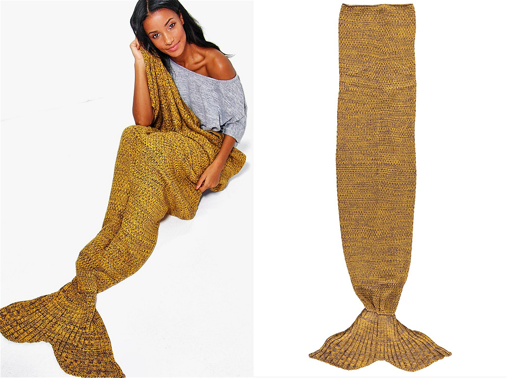 Boohoo Knitted Mermaid Tail Blanket
